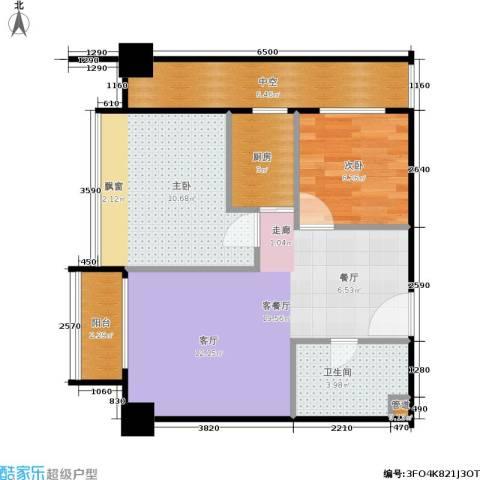 新生活摩尔城柠檬墅2室1厅1卫1厨63.00㎡户型图