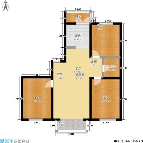 馨丽康城3室0厅1卫0厨108.00㎡户型图