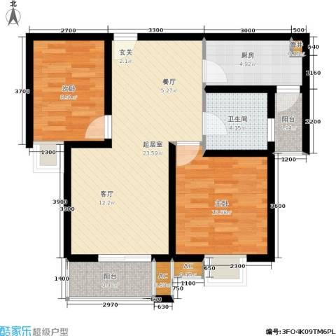 东渡国际青年城2室0厅1卫1厨86.00㎡户型图