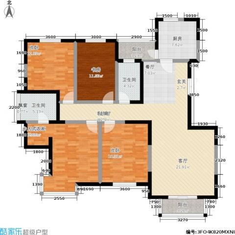 城市风景夏日景色4室1厅2卫1厨160.00㎡户型图