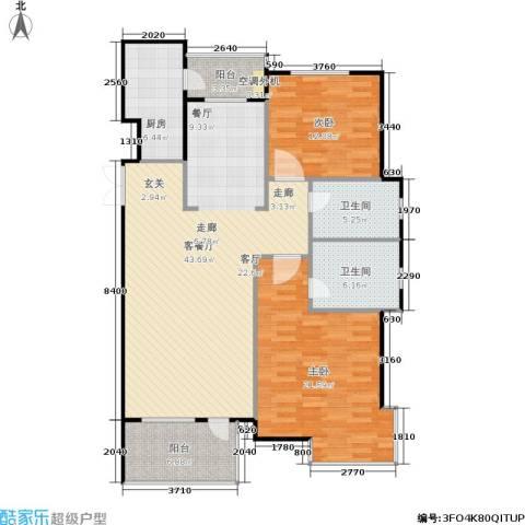 豪森茗家2室1厅2卫1厨113.00㎡户型图