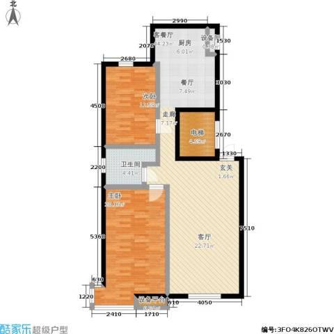 御泉华庭2室1厅1卫0厨85.99㎡户型图