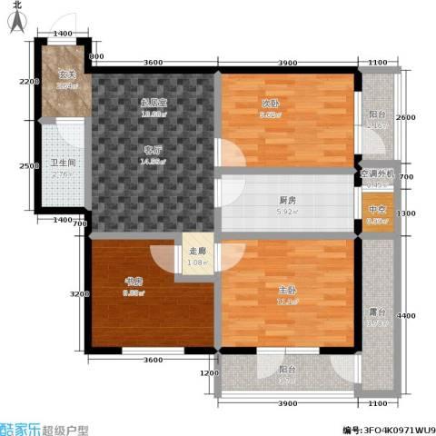 城市经典3室0厅1卫1厨110.00㎡户型图