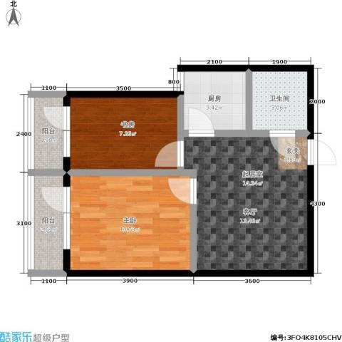 城市经典2室0厅1卫1厨50.00㎡户型图