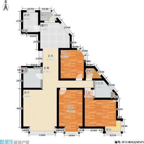 岸上公馆3室1厅2卫1厨125.00㎡户型图