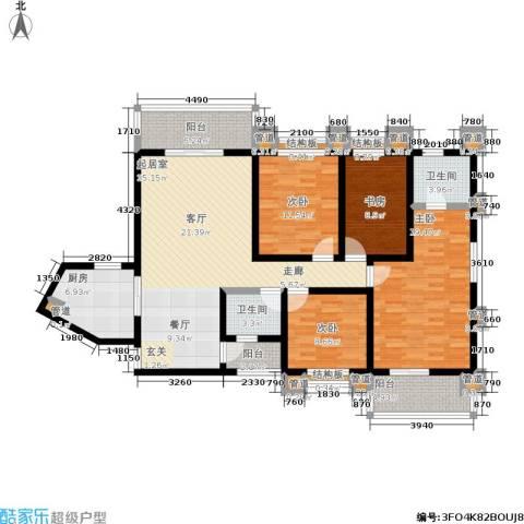 中联.新天地4室0厅2卫1厨147.00㎡户型图