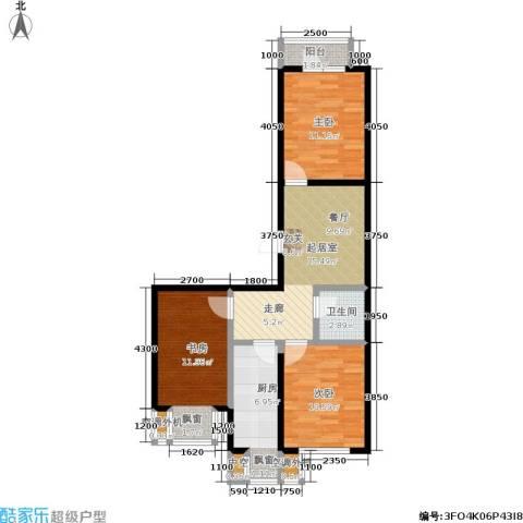 城市经典3室0厅1卫1厨80.00㎡户型图