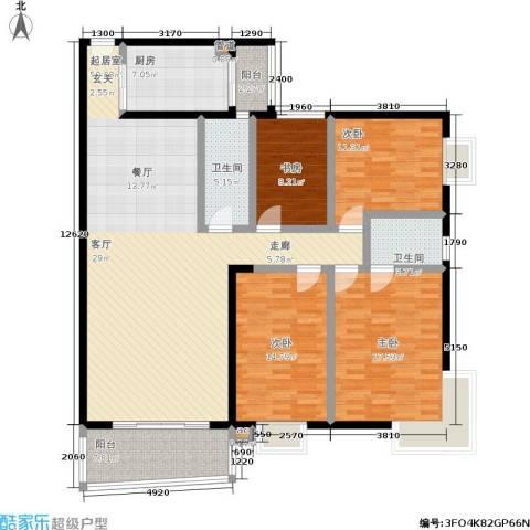 新燕花园4室0厅2卫1厨148.00㎡户型图