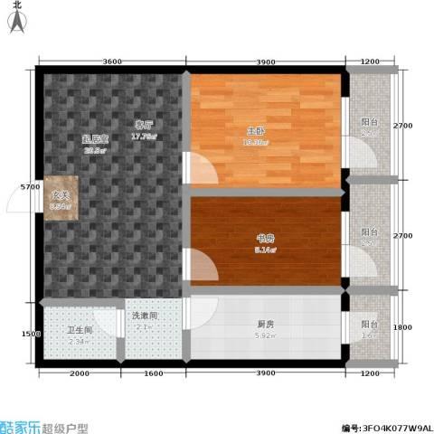 城市经典2室0厅1卫1厨70.00㎡户型图