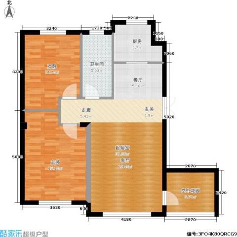 全统・西山丽水2室0厅1卫1厨105.00㎡户型图