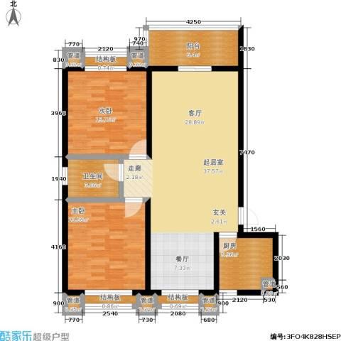中联.新天地2室0厅1卫1厨99.00㎡户型图