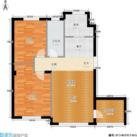 全统・西山丽水2室0厅1卫1厨103.00㎡户型图