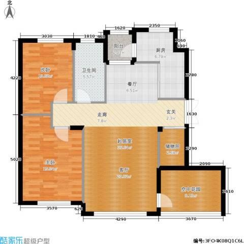 全统・西山丽水2室0厅1卫1厨123.00㎡户型图