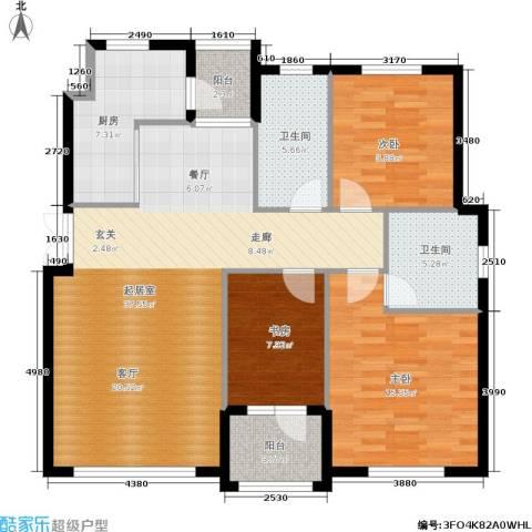 全统・西山丽水3室0厅2卫1厨133.00㎡户型图