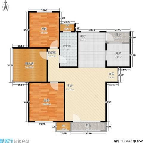 中海英伦观邸2室0厅1卫1厨118.00㎡户型图