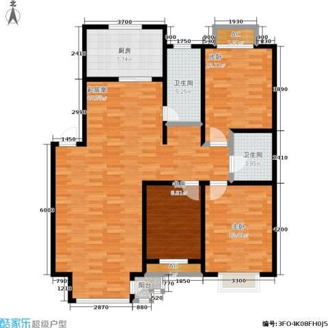 碧水名门3室0厅2卫1厨112.00㎡户型图