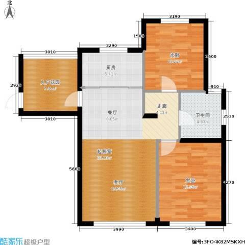 全统・西山丽水2室0厅1卫1厨97.00㎡户型图