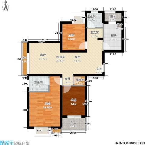 东渡国际青年城3室0厅2卫1厨113.00㎡户型图