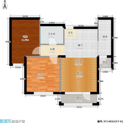 全统・西山丽水2室0厅1卫1厨91.00㎡户型图