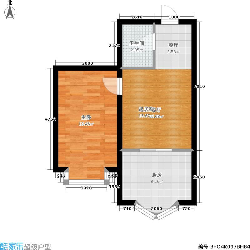 世众宏厦家园62.00㎡房型户型