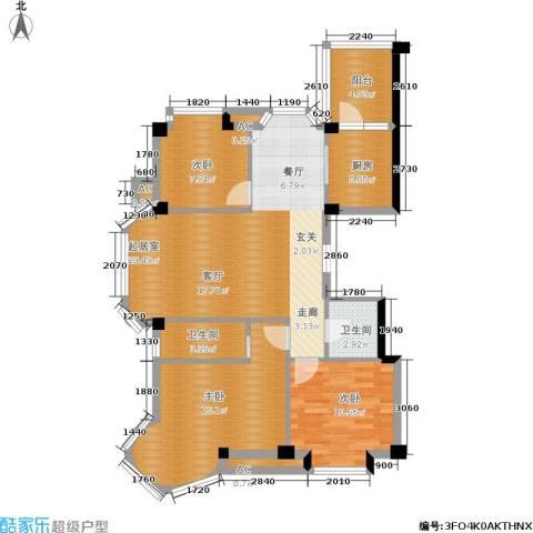 碧海尚城3室0厅2卫1厨110.00㎡户型图