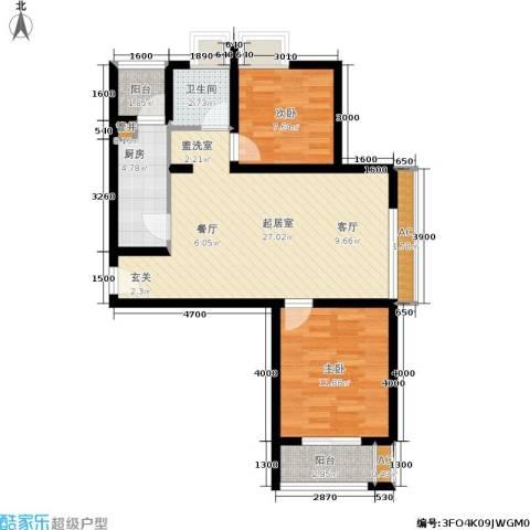 东渡国际青年城2室0厅1卫1厨90.00㎡户型图