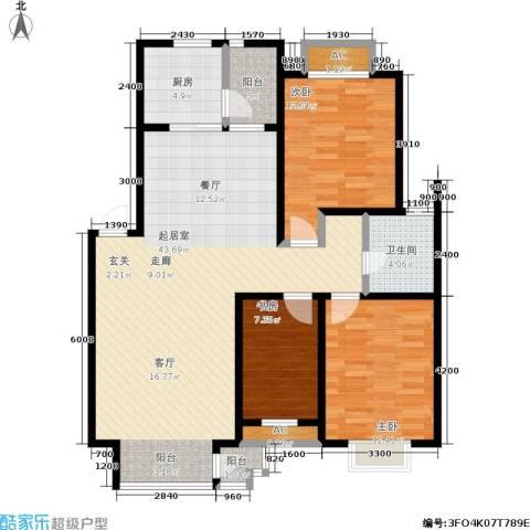 碧水名门3室0厅1卫1厨112.00㎡户型图