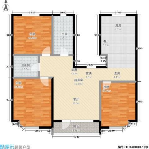 世嘉星海二期3室0厅2卫0厨115.00㎡户型图