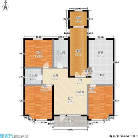 世嘉星海二期3室0厅2卫0厨191.00㎡户型图