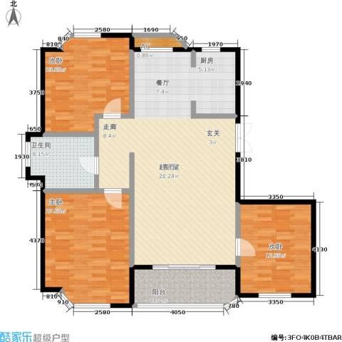 世嘉星海二期3室0厅1卫0厨115.00㎡户型图