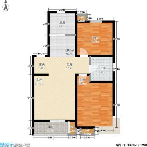碧水名门2室0厅1卫1厨72.39㎡户型图