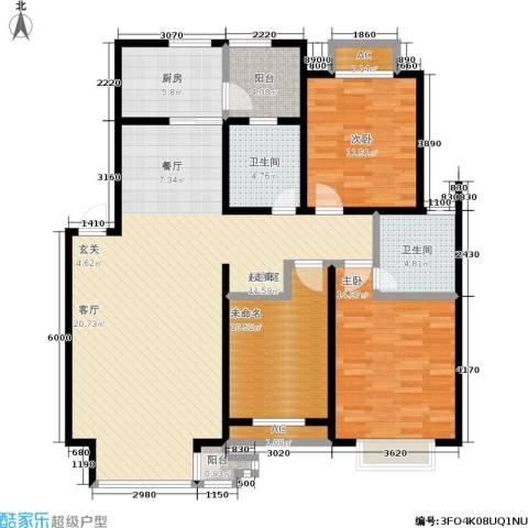 碧水名门2室0厅2卫1厨112.00㎡户型图