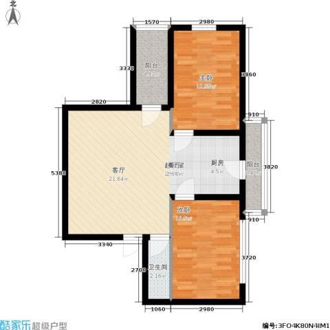 柏林四季 未来之城 滨才 集团 哈尔滨最大的生态城2室0厅1卫0厨86.00㎡户型图