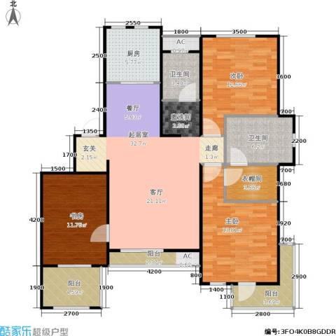 阳光洛可可3室0厅2卫1厨138.00㎡户型图
