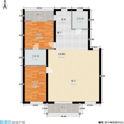 阳光嘉园2室0厅2卫0厨141.00㎡户型图