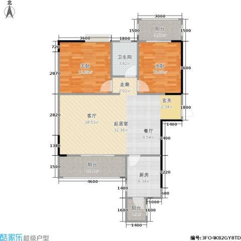 瑞凯・景城苑2室0厅1卫1厨103.00㎡户型图