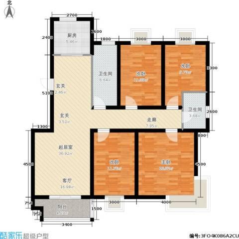 中南・麒麟锦城4室0厅2卫1厨134.00㎡户型图