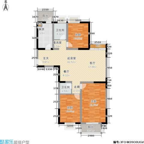 东渡国际青年城3室0厅2卫1厨123.00㎡户型图