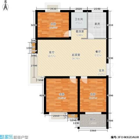 中南・麒麟锦城3室0厅1卫1厨102.00㎡户型图