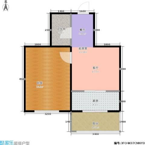 春城小院二期1卫1厨48.00㎡户型图