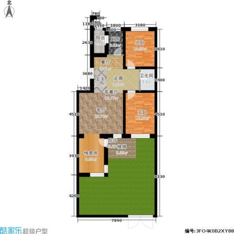 金汇雅居2室1厅1卫1厨123.10㎡户型图