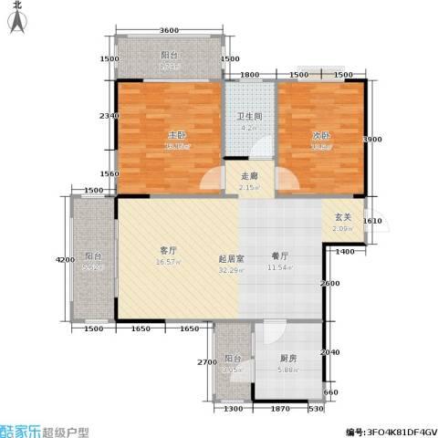 瑞凯・景城苑2室0厅1卫1厨108.00㎡户型图