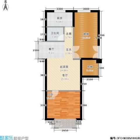 文华园1室0厅1卫1厨67.54㎡户型图