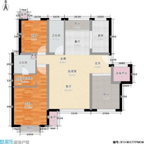 锦悦苑2室0厅2卫1厨101.00㎡户型图