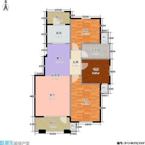 阳光洛可可3室0厅1卫1厨90.01㎡户型图