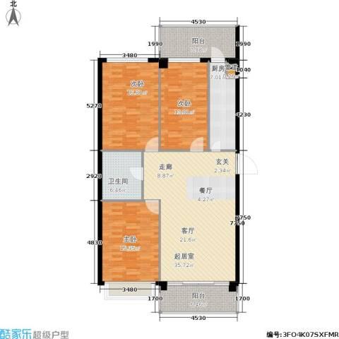锦绣江南3室0厅1卫1厨109.76㎡户型图