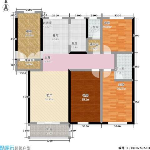 山水龙庭3室0厅2卫1厨134.00㎡户型图