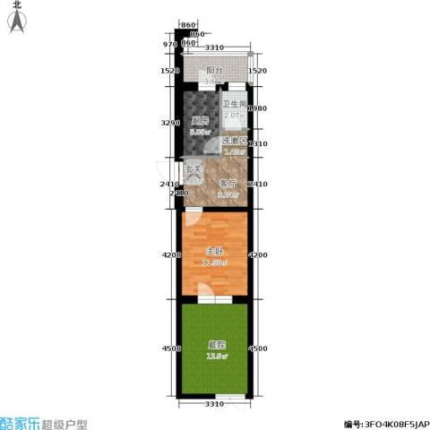 金汇雅居1室1厅1卫1厨45.00㎡户型图