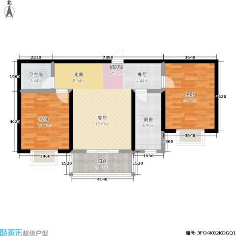 山水龙庭2室0厅1卫1厨81.00㎡户型图