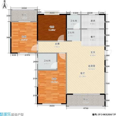 瑞凯・景城苑3室0厅2卫1厨141.00㎡户型图